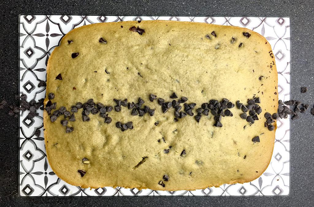 Gâteau au thé matcha (sans gluten, sans lactose)
